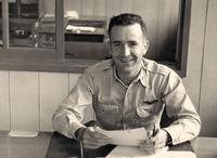 Capt. Gil McDowell at work mid-1950s.jpg